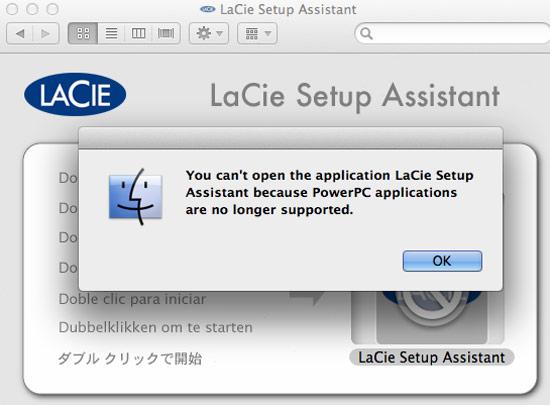 lacie setup assistant mac