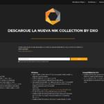 Página de descarga de DxO